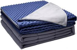 Kpblis Weighted Blanket With Cover 15 Lbs 48' X 72' For 130-