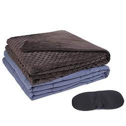 """Kpblis Weighted Blanket with Cover 7 lbs 40"""" x 60"""" for 60-10"""