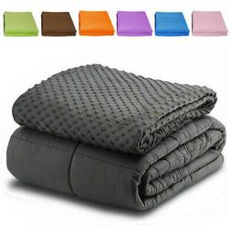 """Weighted Blanket With Duvet Cover 60"""" x80"""" 15lb Reduce Stres"""