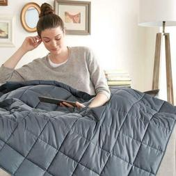 """Weighted Blanket with Premium Glass Beads 15lbs 48""""x72"""" Twin"""