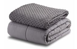 Leniio Weighted Blanket with Removable Duvet Cover for Adult