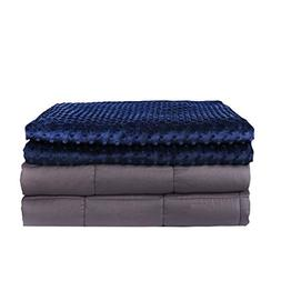 BUZIO Weighted Blanket with Removable Minky Cover | 20 lbs |
