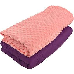 Aviano 7lbs Weighted Blanket for Kids  with Cuddly Soft Duve
